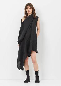 Totokaelo - Yohji Yamamoto Black Left Off-shoulder Dress