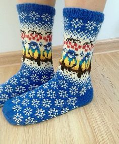 Titbirds Socks pattern by Natalia Moreva This is a collection of charts for stranded knitting that I used to make these socks. There is no written instructions. Knitting For Kids, Loom Knitting, Knitting Socks, Hand Knitting, Crochet Socks Pattern, Crochet Shoes, Knit Crochet, Crochet Granny, Fair Isle Knitting Patterns