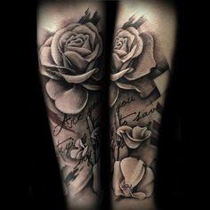 Amazing Artist Nic Westfall rose forearm tattoo!  #nicwestfall  #roseart…