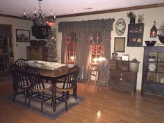 Country primitive dining room