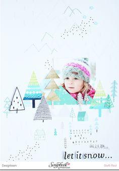 "SBW Dezember Sketch - Layout ""let it snow"" - Scrap Sweet Scrap"