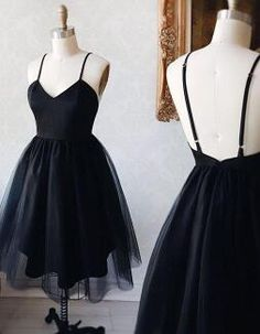 Black v neck Homecoming Dress,Cheap Homecoming Dress,short prom