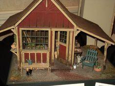 MINIATURE dollhouse GARDEN SHED