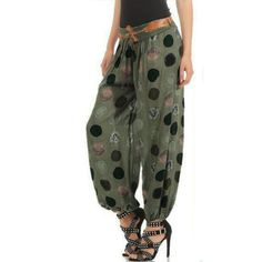 Printing Pocket Elastic Band Trousers Long Pants Baggy //Price: $11.04 & FREE Shipping //     #jewelry #styles #eyes