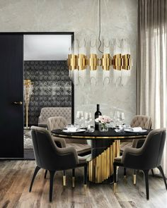 Your contemporary dining room is on its way and we are helping you find the most amazing luxury design details and elements. From dining tables to dining chairs Dining Table Design, Modern Dining Chairs, Dining Rooms, Dining Tables, Round Dining, Round Tables, Kitchen Tables, Dining Sets, Small Dining