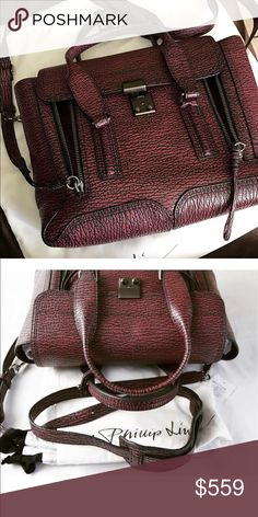 Like new medium 3.1 Phillip Lim Pashli Like new only used 2 times. Beautiful red/maroon and black color. This is the medium size. Comes with dust bag. 3.1 Phillip Lim Bags Satchels