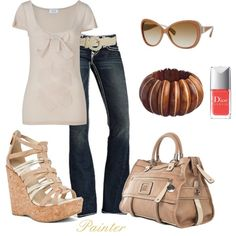 """Soft Beige"" by mels777 on Polyvore"