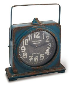 Take a look at this Navy Iron Clock by Foreside on #zulily today!