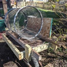 Trommel Compost Sifter : 7 Steps (with Pictures) - Instructables Fencing Tools, Composting Process, Drywall Screws, Bubble Wands, Plant Markers, Raised Beds, Garden Hose, Outdoor Gardens, Garden Ideas