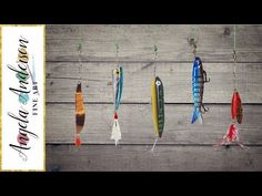Easy Fishing Lures Acrylic Painting Tutorial LIVE Angela Anderson