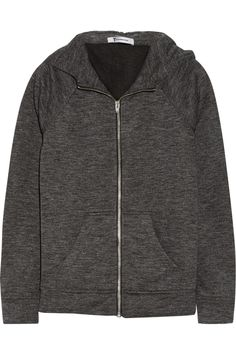 Cotton-blend hooded top by T by Alexander Wang