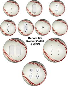 Details about Coloriffic Baseball wall plate Toggle Light Switch,Outlet,Decora ,double cover - Gamer House Ideas 2019 - 2020 Baseball Nursery, Baseball Wall, Boys Baseball Bedroom, Baseball Stuff, Baseball Bathroom Decor, Sports Bathroom, Baseball Crafts, Baseball Party, Baseball Games