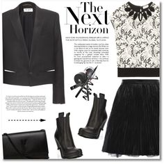 A fashion look from December 2015 featuring Yves Saint Laurent tops, Yves Saint Laurent blazers and Yves Saint Laurent. Browse and shop related looks.