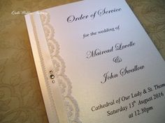 Luxury Wedding Order Of Service Ceremony Booklet This Beautiful Is