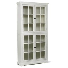 Drewniana biała witryna •WEJDŹ• agamartin.com - Design Skandynawski, Meble Skandynawskie, Duńskie, Industrialne, Retro, Vintage, Organic, Fa...