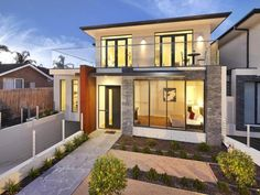 Photo of a pavers house exterior from the realestate.com.au Home Ideas Facades image galleries - House Facade photo 1348283. Browse hundreds of pavers facade designs from Australian homes on Home Ideas.