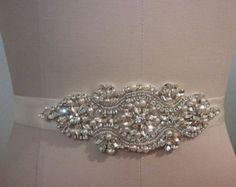 Items similar to SALE - Wedding Belt, Bridal Belt, Sash Belt, Crystal Rhinestone & Pearls - Style B30079 on Etsy