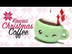 Kawaii Christmas Coffee Polymer Clay Tutorial