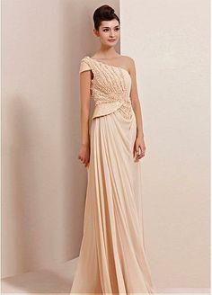 In Stock Amazing One Shoulder Neckline Beading Formal Dress #Dressilyme