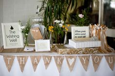 Rustic Wedding Gift Table Ideas : ... Tables on Pinterest Gift Table Signs, Wedding Baskets and Rustic