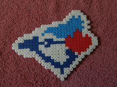Toronto Blue Jays logo perler beads