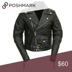 Mfc women's leather biker jacket A heavy duty biker jacket! Real leather! FMC Jackets & Coats