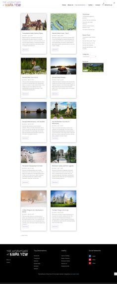Web Design - Category page layout for a travelling blog Page Layout, Layout Design, Web Design, Romania Facts, Stuff To Do, Things To Do, Visit Romania, Romania Travel, Picture Stand