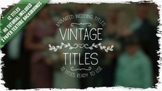 Buy Vintage Titles by DEFSTUDIO on VideoHive. Handdrawn vintage stylish titles with jittery drawing effect will be perfect as openers to your professional wedding.