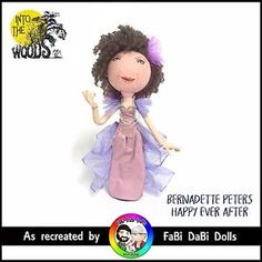 Bernadette Peters Happy Ever After Into the Woods Sondheim peg doll from fabi dabi dolls Bernadette Peters, Clothespin Dolls, Woods, Witch, Teddy Bear, Store, Happy, Handmade, Animals