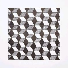 Illusion Drawings, Illusion Art, Optical Illusions Drawings, Art Drawings Sketches Simple, Pencil Art Drawings, Graph Paper Drawings, Graph Paper Art, Easy Drawings, Mandala Art Lesson