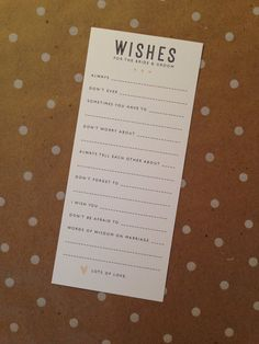 Wishes for the bride and groom by madebyjessa on Etsy