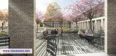 Brick Architecture, Pilgrim, Railroad Tracks, Gardens, Space, Floor Space, Garden, Garden Types, Yards