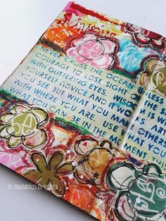 Art Journal Tutorial by Brigitta Budahazi with StencilGirl Products