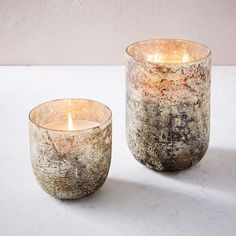 Antiqued Mercury Glass Scented Candle, Extra Large