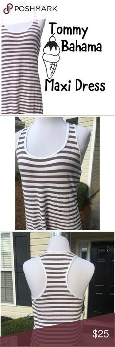 Tommy Bahama Maxi Dress Our shoulder-baring maxi dress is cut from a stretchy knit and features stripes & racerback  🐘95% Cotton 5% Spandex  🐘Measurements in pictures  🐘Pictures are my own  🐘Pre-loved in great condition 🐘Offers welcome Tommy Bahama Dresses Maxi
