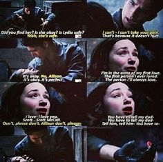 I cried during this moment. It was so sad! I didn't want Allison to die! Allison and Scott are soulmates!!!