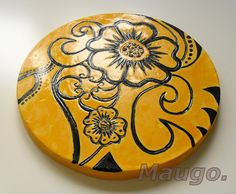 handmade decoration from plaster