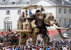 the Great Elephant of Les Machines de L'Ile Nantes in London