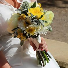 Longlevens Flowers for Gloucester, Cheltenham, Cotswolds Wedding 2015, Wedding Ideas, Yellow Wedding, Table Decorations, Weddings, Grey, Flowers, Ash, Bodas