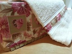 pleated tissue box cover and embellished hand towel gift set