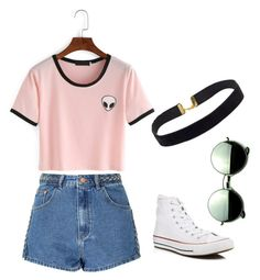 """Untitled #45"" by hlh14 on Polyvore featuring Glamorous, Converse and Revo"