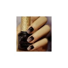Matte gray colored nails with silver featuring polyvore, beauty products, nail care, nail polish, matte nail color, silver nail polish, matte grey nail polish, grey nail polish and gray nail polish