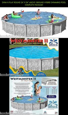 """Swim N Play Round 24' x 54"""" Above Ground Hybrid Swimming Pool Complete Package! #racing #24x54 #kit #technology #tech #drone #camera #shopping #products #fpv #gadgets #pools #parts #plans"""