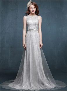 Elegant & Luxurious Summer Chic & Modern Bateau Formal Natural Zipper-up All Sizes Dress