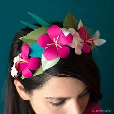 Tropical Head Wreath tutorial and template| DIY