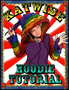 New Hoodie Pattern by Katwise  Make your Own Upcycled by katwise, $9.00