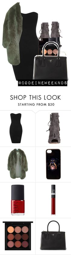 """""""12/19/15"""" by codeineweeknds ❤ liked on Polyvore featuring Annie Greenabelle, Gianvito Rossi, Paul & Joe, Givenchy, NARS Cosmetics, MAC Cosmetics, Prada and Oliver Peoples"""