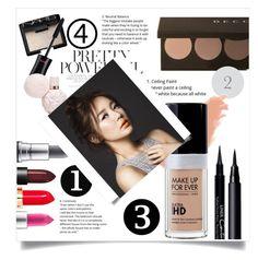 """Beauty set #1"" by kawaii-02 ❤ liked on Polyvore featuring beauty, NARS Cosmetics, Bobbi Brown Cosmetics, MAC Cosmetics, Givenchy and Clé de Peau Beauté"