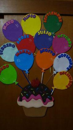 Best Ideas For Wall Display Art Bulletin Boards - Geburtstag Art Bulletin Boards, Birthday Bulletin Boards, Classroom Board, Classroom Displays, Preschool Classroom, Preschool Crafts, Classroom Decor, Crafts For Kids, Preschool Birthday Board