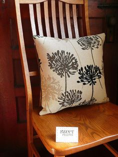 """Sweet Pillows Two-Fabric Black and Grey Allium - 18""""x18"""" by JollieSweets, $41.99 USD"""
